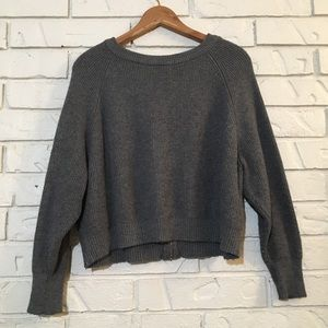 Zara Zipper-Back Cozy Crop Sweater